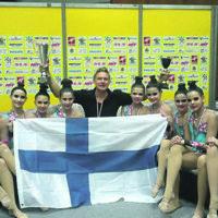 Ylöjärveläisvoimistelijoille junioreiden MM-hopeaa