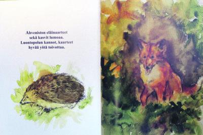 Ahveniston poluilla -kirjassa nähdään monta Ylöjärven luonnosta tuttua eläintä.