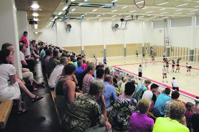 Ylöjärven Urheilutalon vihkiäisissä pelattiin tyttöjen U19:n lentopallomaaottelu: Suomi–Viro.