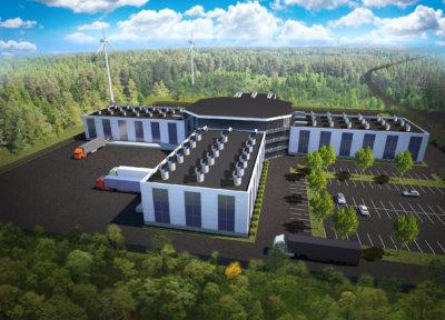 Tältä uudenaikainen marjatehdas voisi näyttää. Tällä hetkellä tehdasta puuhataan ensisijaisesti Nokian Pitkäniemeen. (Havainnekuva: Evergreen Farm Oy)
