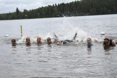 uiminen, kesä, uimakoulu, rantauimakoulu, Räikän ranta