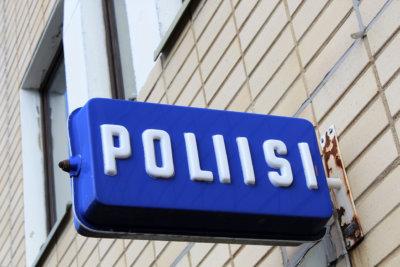 Poliisi, rikokset, kyltti
