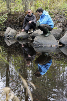 Kolmen helmen joet -hanke, raakkku, jokihelmisimpukka, Ruonanjoki, Pinsiön-Matalusjoki