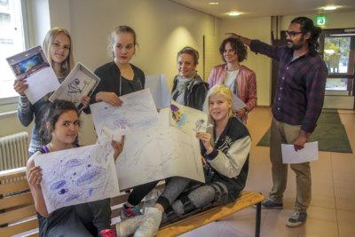 Moision koulu, Unelmakoulu-hanke, Unelmien oppimisympäristö, peruskoulu, yläkoulu, Khalid Imran, Laura Peltokorpi, Heidi Kotila, seinämaalaus