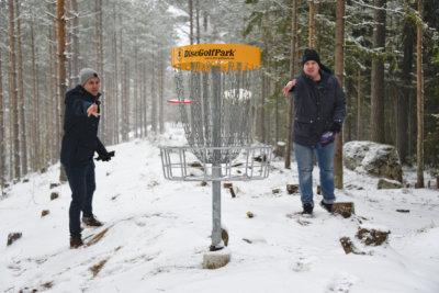 frisbeegolf, Julkujärven frisbeegolfrata, DGC Fat Discs, FG-Ryhti, Petri Vanhamäki, Tuomas Malinen