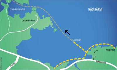 retkiluistelu, Näsijärvi, Siivikkala, Kaupinoja, Hiking Travel Hit