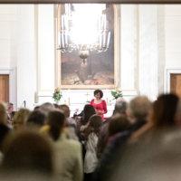 Paula Koivuniemi Ylöjärven kirkossa 7.12.2016. (Kuva: Rami Marjamäki)