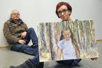 Yrjö Mustonen, Terhi Ovaska, maalaus, öljyvärit, näyttely