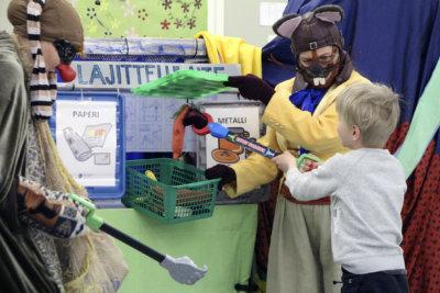 professori Kompostiini, taikakone, Pirkanmaan jätehuolto, kierrätys, lajittelu