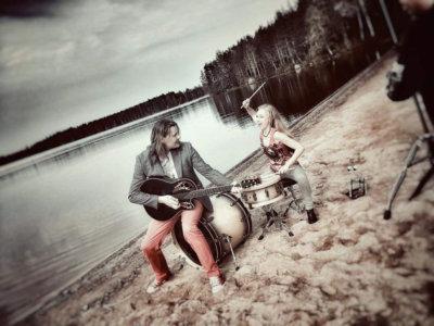 Ylöjärven uimahalli, musiikki, kuutamouinti, duo Kulkuri Kaunotar