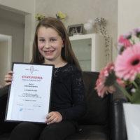 Yhdeksänvuotias Amanda Orvola menestyi Napero-Finlandiassa