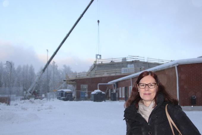 Metsäkylän koulu, kakkosvaiheen laajennus, harjannostajaiset, 15.1.2018
