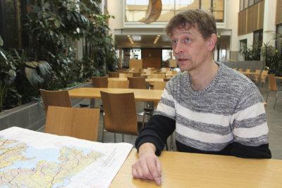 osayleiskaava, Mutala, Antaverkka, kaavoitusarkkitehti Arto Huovila, kuva: Iiria Lehtinen