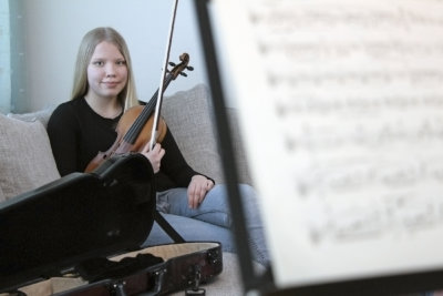 Nuori viulistilupaus