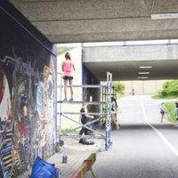 Tunneliteos on nyt valmis – katso kuvat upeista graffiteista Vaasantien alikulkutunnelissa