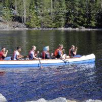 Kesälomafiilistä kanootista