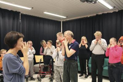 Mikkolan työtupa, kehitysvammaisten teatteri, draamaryhmä, kuva: Iiria Lehtinen