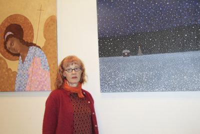 Annukka Laine, taidenäyttely, Leija, (kuva: Iiria Lehtinen)