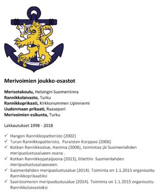 Puolustusministeri Jussi Niinistön mukaan Suomen merivoimat ovat hyvässä kunnossa. Lähitulevaisuuden iso investointi on Laivue 2020 -hanke. Kuva kertoo merivoimien nykyiset ja lakkautetut joukko-osastot.