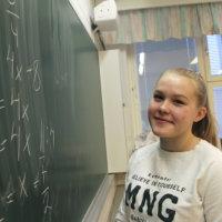 Emilja Särkkä, 16, on luontainen matikkalahjakkuus