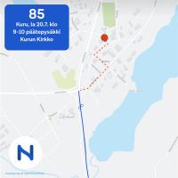 Kurun keskusta on suljettu lauantaina markkinoiden vuoksi liikenteeltä – myös bussilinja 85 ajaa poikkeusreittiä