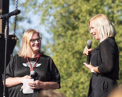 Eija Suntinen haastatteli Jaana Lammista, joka kertoi, että kaupungin 150-vuotisjuhlinta jatkuu Räikällä vielä tänä kesänä.