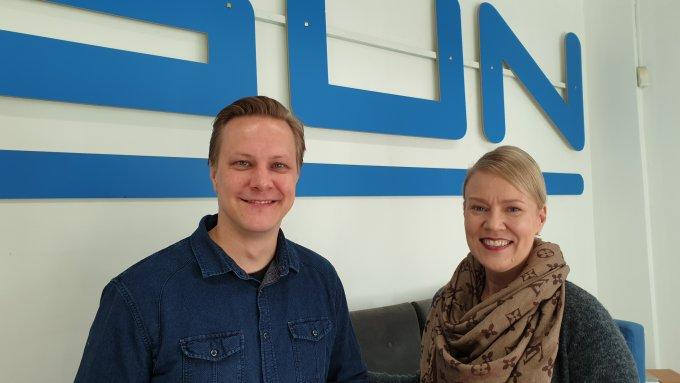 Valtteri Kujansuu ja Marika Hyvärinen