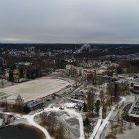 Uusia dronekuvia Ylöjärveltä: katso miltä näyttää Räikällä, Kirkonseudulla ja Siltatiellä