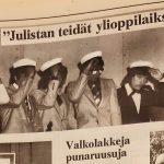 Näin Ylöjärvellä juhlittiin valkolakkeja 1960-1990-luvuilla: Ruusuja sankarivainajille, ravintolariehaan Rosendahliin
