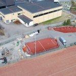 Yhtenäiskoulun pihassa pääsee pian liikkumaan vaikka koko perheen voimin – Uusi kuntoilupuisto valmistuu toukokuussa