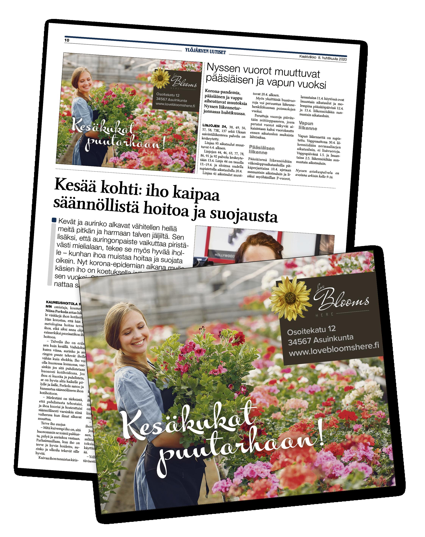 Ylöjärven Uutiset paperilehden mainos