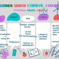 Perjantaina vietetään Suomen suurinta etäpäivää: kokoa lukujärjestys valmiiseen pohjaan