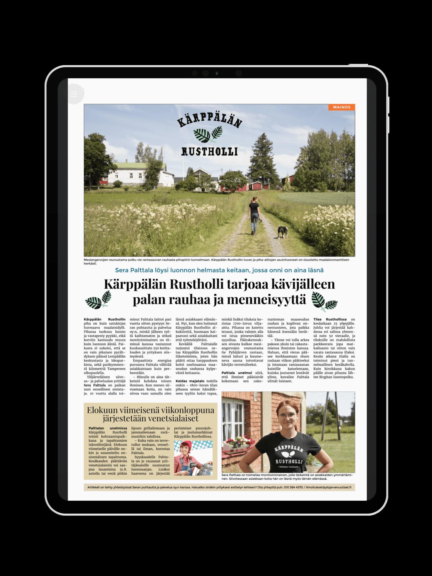 Ylöjärven Uutiset sisältömarkkinointi