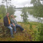 Punainen mökki hurmasi Ranskassa asuvien Eric Le Marchandin ja Verna Kaunisto-Feodorowin sydämen