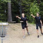 Frisbeegolf-opastusta elokuun ensimmäisellä viikolla