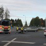 Henkilöauto ja moottoripyörä kolaroivat Teivossa
