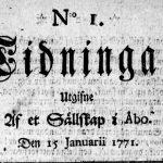 Suomalainen sanomalehdistö viettää tänään 250-vuotisjuhlaa